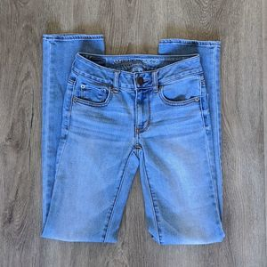 American Eagle Straight Super Stretch Light Wash